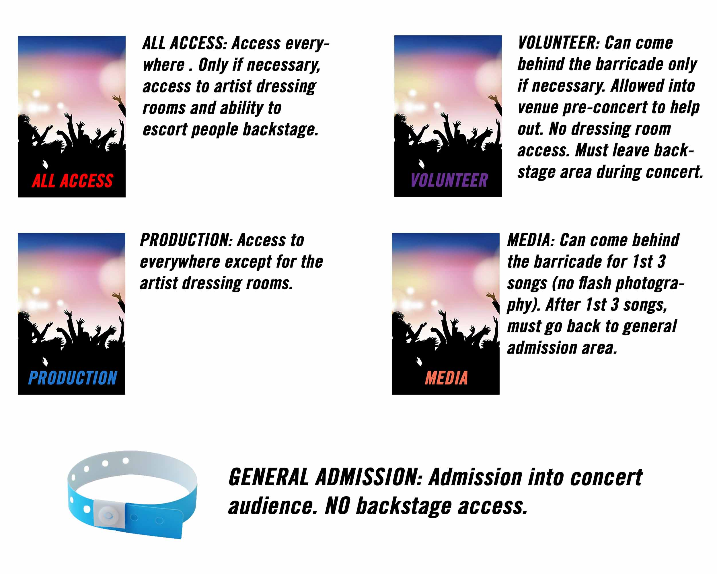 concert credentials